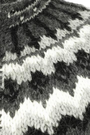 Isländischer Cardigan - Handgestrickt - grau