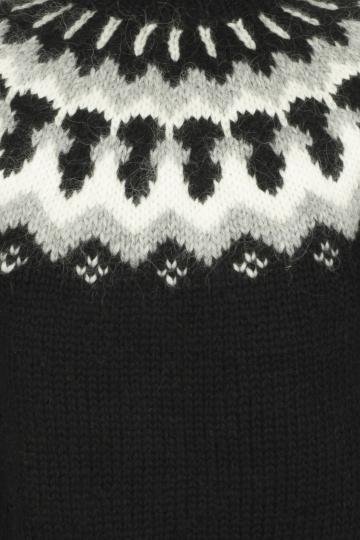 Lopapeysa - Islandpullover handgestrickt - schwarz