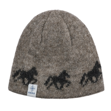 Isländer Wollmütze - Tölter - hellbraun