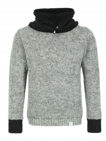 KIDKA 075 High-Neck Pullover - grau
