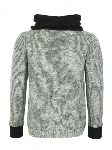 KIDKA 075 High-Neck Pullover - grau
