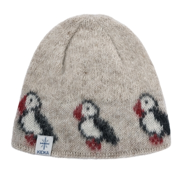 KIDKA 012 Woolen hat - Puffin - beige