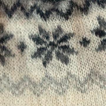 KIDKA 014 Wollmütze Island-Rose - weiß