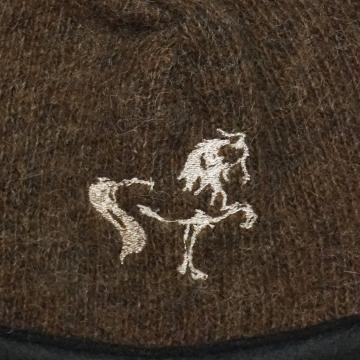 Damen Strickmütze Braun - Islandpferd