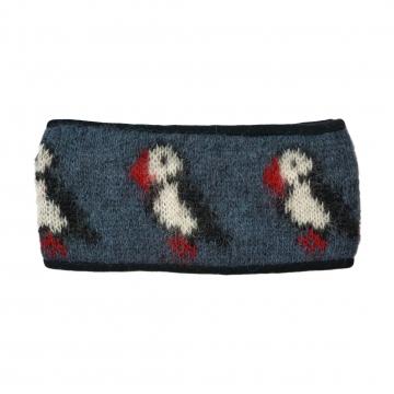 KIDKA 094 Stirnband Papageientaucher - blau