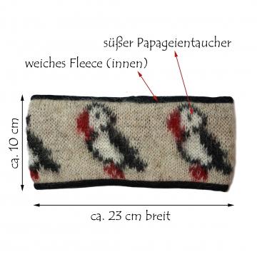 KIDKA 095 Stirnband Papageientaucher - beige