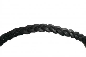 Islandpferd Leder Kopfstück - Geflochten - schwarz