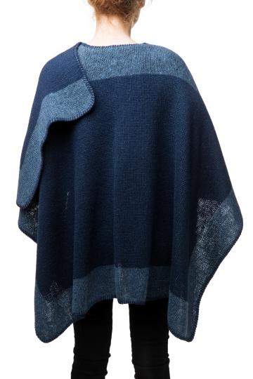 VARMA Gola Damen Woll-Poncho - blau