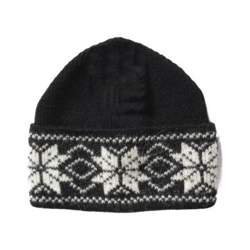 Wollmütze mit skandinavischem Muster - Schwarz