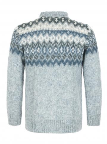 Damen Woll-Strickjacke - Cardigan - blau