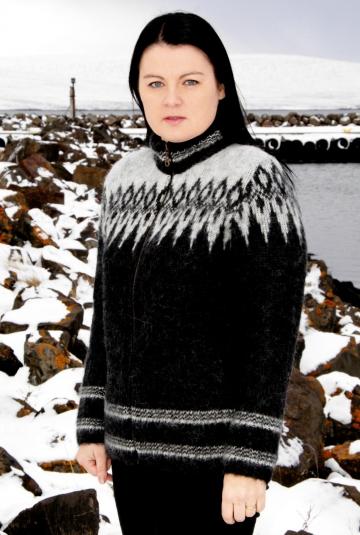 Woll-Strickjacke - Cardigan - schwarz