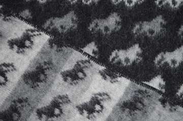KIDKA 032 Tagesdecke Wolldecke, Islandwolle Schwarz - Islandpferde