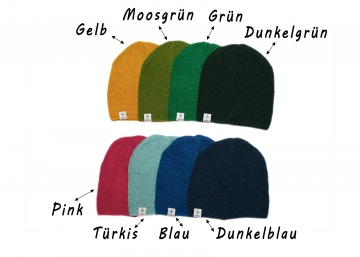 Dünnes Woll-Beanie - verschiedene Farben - KIDKA 073