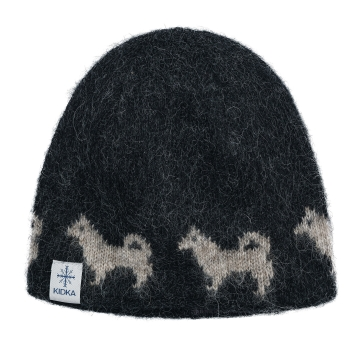 Woolen hat - Icelandic sheepdog - black