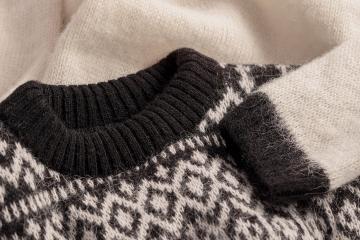 Herren / Damen Pullover Islandwolle - weiß