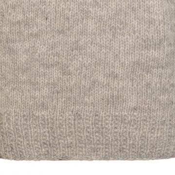 Handgestrickter Damen Pullover - Wollpullover - hellgrau / pink