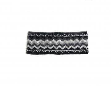 Stirnband 075 - schwarz-grau-weiß