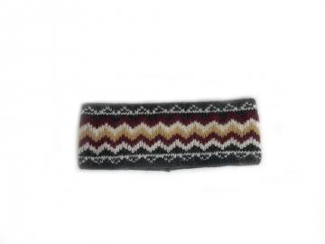 Stirnband 076 - grau-bunt