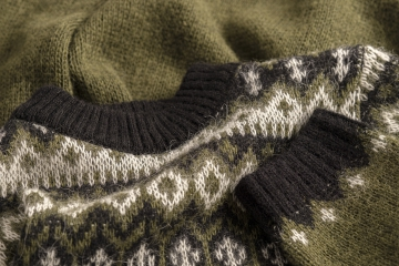 Isländischer Herren / Damen Wollpullover - grün