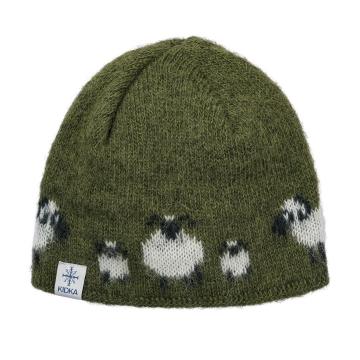 Wollmütze Schafe - grün