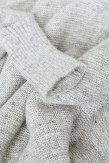 KIDKA 049 Damen Woll-Poncho Schurwolle - hellgrau