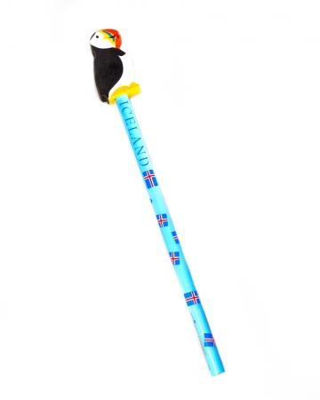 Bleistift mit Papageientaucher Radiergummi
