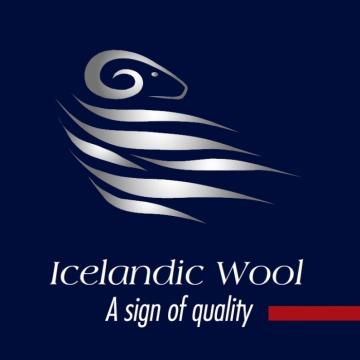KIDKA 052 Tagesdecke Papageientaucher Blau, Wolldecke, Plaid Islandwolle