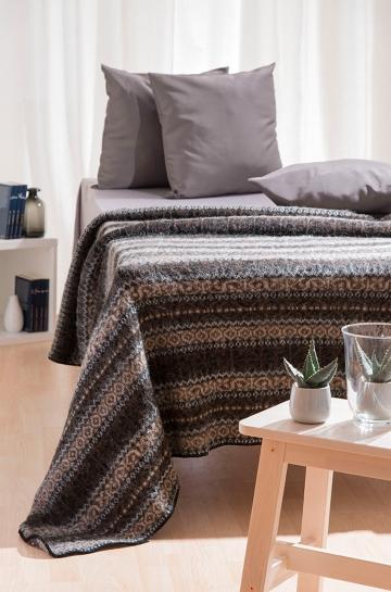 wohndecke tagesdecke gestreift braun woll decke bett. Black Bedroom Furniture Sets. Home Design Ideas