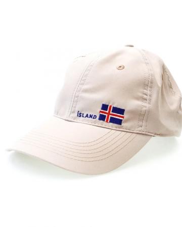 Island Basecap - Islandflagge - beige