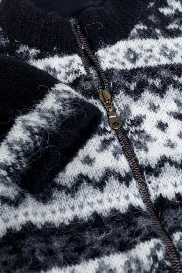 KIDKA 005 Damen Strickjacke schwarz - Island Cardigan