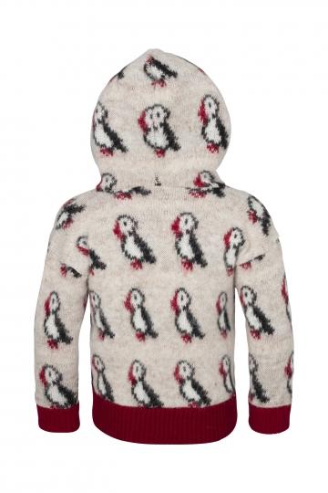 KIDKA 067 Cardigan à capuche pour enfants - macareux - beige