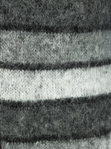 Herren & Damen Hoodie - grau-schwarz gestreift