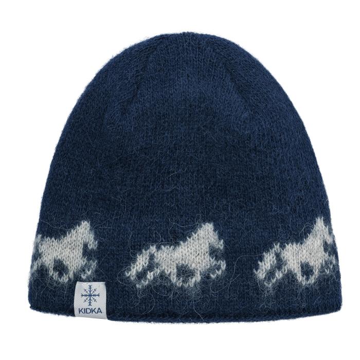 baf93be03d7 KIDKA 090 Woolly hat - Icelandic horse - dark-blue