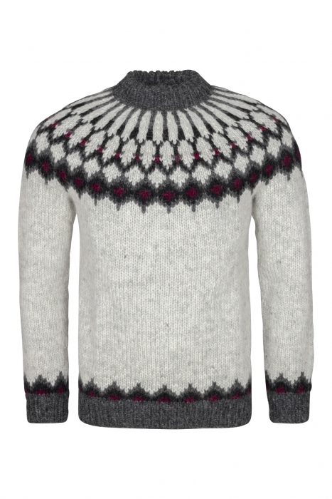 7109307a982 Traditional Icelandic Wool Sweater Hand-knit HSI-223 - light-grey