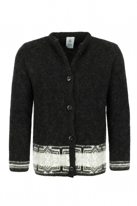 KIDKA 037 Womens Wool Button Cardigan - Black