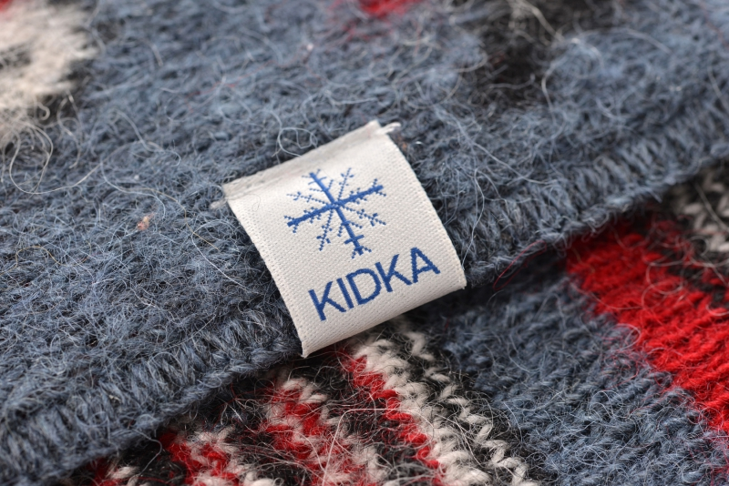 5563a768b8e KIDKA 052 Icelandic Wool Blanket Puffin - Blue
