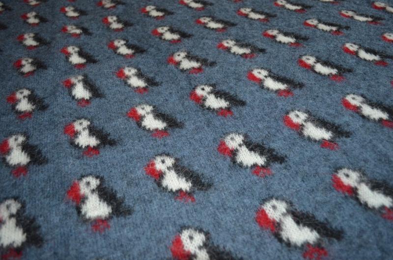 Kidka 052 Icelandic Wool Blanket Puffin Blue