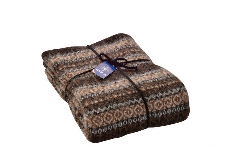 kidka 053 tagesdecke schurwolle gestreift braun. Black Bedroom Furniture Sets. Home Design Ideas