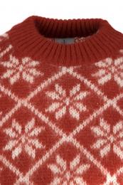 Isländischer Wollpullover - Rot