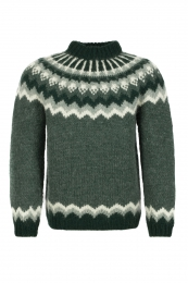 Handknitted Icelandic Sweater - green