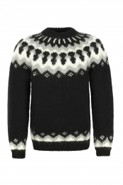 Icelandic Lopapeysa HSI-209 - hand-knit - black