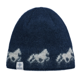 KIDKA 090 Woolly hat - Icelandic horse - dark-blue