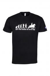 ÁSTUND T-Shirt Schwarz - May The Horse Be With You