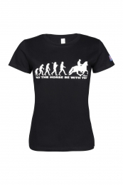 ÁSTUND Damen T-Shirt Schwarz - May The Horse Be With You