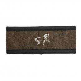 Stirnband mit Islandpferd Stickerei - Braun