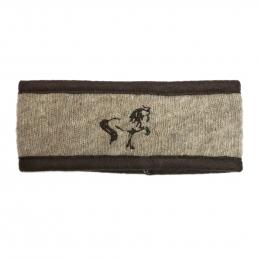 Stirnband mit Islandpferd Stickerei - Beige