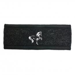 Stirnband mit Islandpferd Stickerei - Schwarz