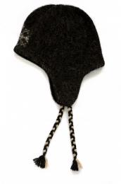 KIDKA 016 Wollmütze mit Ohrenschutz - Schwarz