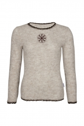 Light Jumper with nordic symbol - beige