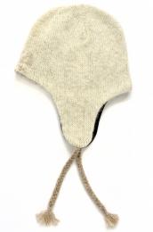 KIDKA 017 Wollmütze mit Ohrenschutz - Beige